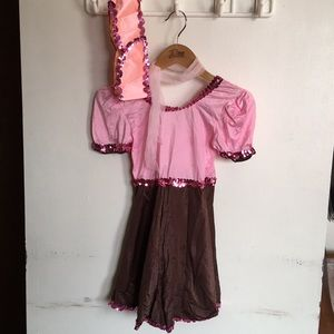 Design Works Pink and Brown Dance Costume